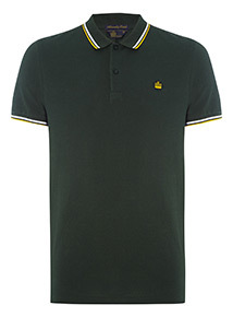 Admiral Green Tipped Polo