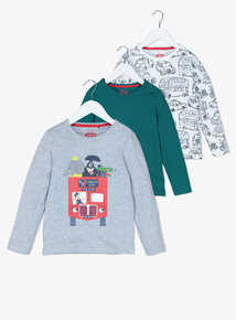 Multicoloured Animal & Transport Long-Sleeved Tops (9 Months - 6 Years)