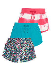 Jersey Patterned Shorts 3 Pack (9 months - 6 years)