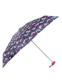 Blue Bird Print Mini Umbrella