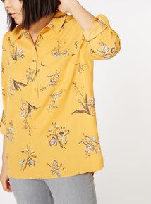 Floral Print Roll Sleeve Shirt