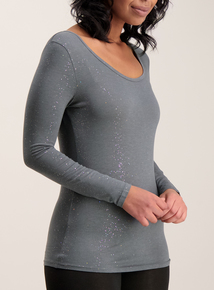 Grey Glitter Thermal Heat Active Top