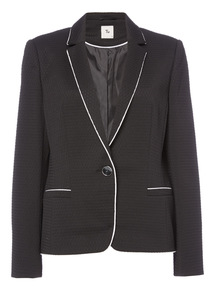 Black Tipped Blazer