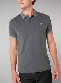 Admiral Grey Dogtooth Polo Shirt