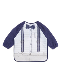 Blue Shirt And Braces Bib (0-24 months)