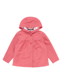 Girls Red Watermelon Spot Jacket (0-24 months)