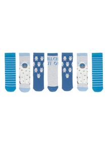 Blue Yeti Socks 7 Pack  (3-14 years)