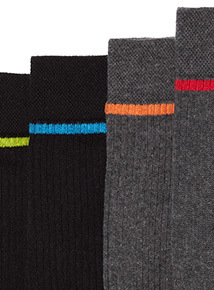 5 Pack Black and Grey Sports Socks