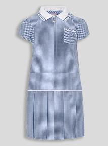 Navy Sporty Gingham Dress (3 - 12 years)