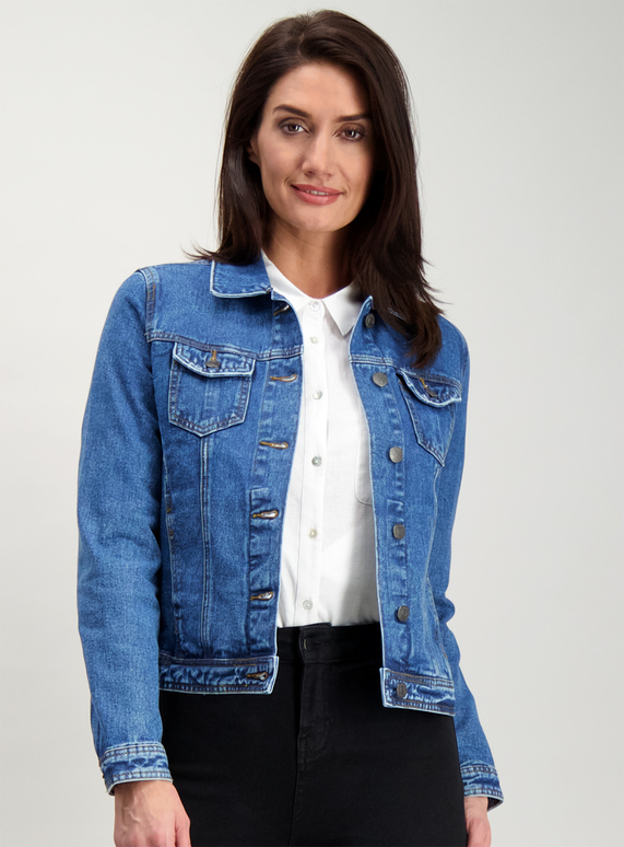 b90615a1f98 Womens Blue Denim Jacket