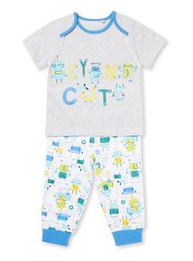 Multicoloured 'Beyond Cute' Robot Pyjamas (0-24 months)