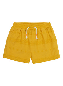 Yellow Broderie Shorts (9 months-5 years)