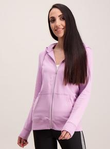 Lilac Zip Front Hoodie