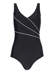 Piped Detail Swimsuit
