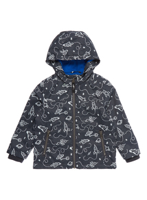 Boys Grey Spaceship Fleece Lined Jacket (9 months-5 years)