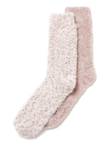 Grey 2 Pack Totes Supersoft Cosy Socks