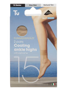 Natural Summer Breeze 15 Denier Ankle Highs 2 Pack