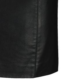 PETITE Black Coated A-Line Mini Skirt