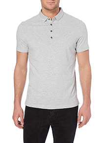 Grey Marl Jersey Polo