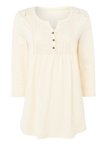 Broderie Pintuck Blouse