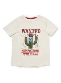 Stone Wanted Print T-Shirt (3-14 years)