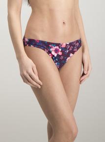 Online Exclusive Multicoloured Floral Bikini Brief