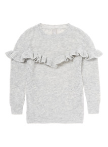 Grey Frill Jumper (3-14 years)