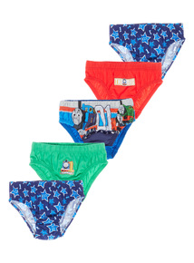 5 Pack Multicoloured Thomas Briefs (1.5-5  years)