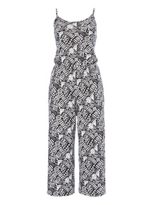 Mono Pattern Jumpsuit