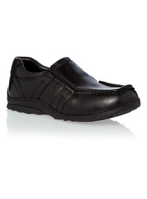 Boys Leather Slip On Shoes