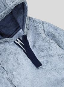 Grey Faux Fur Hooded Jumper& Jogger Set (0-24 Months)
