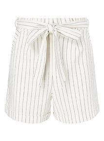 Stripe Linen Shorts