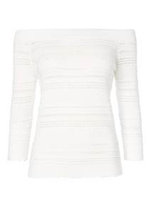 White Dot Bardot Jumper