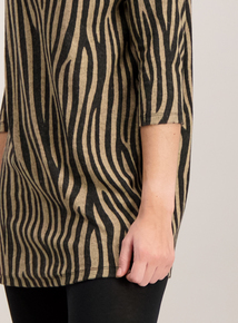 Multicoloured Zebra Print High Neck Tunic