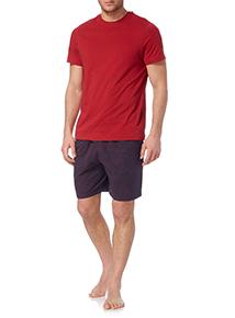 Red Check T-shirt and Short Set