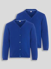 Girls Blue Cardigan 2 Pack (2-12 years)