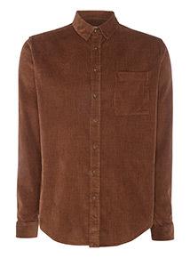 Brown Cord Long Sleeve Shirt
