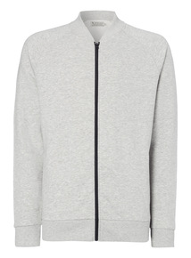 Grey Jersey Bomber Jacket