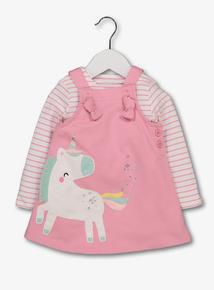 Pink Unicorn Pinafore & Bodysuit (0 - 24 months)