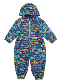 Multicoloured Racing Car Puddlesuit (9 months - 6 years)