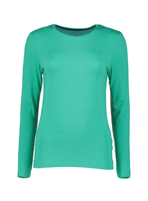 Online Exclusive Green Long Sleeve Soft Touch T-Shirt