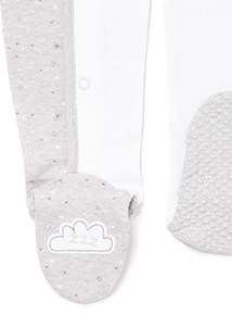 Grey and White Sheep Sleepsuit (0-24 months)