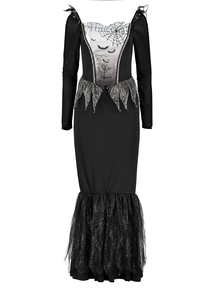 Black & Grey Adult Bat Dress Halloween Outfit (Size 8 - 22)