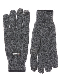 Charcoal Thinsulate Knit Glove