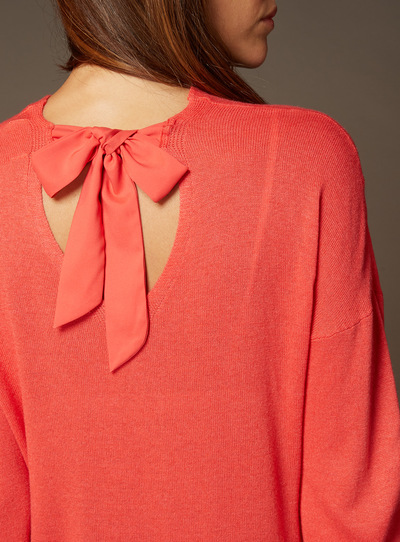 Premium Bow Back Wrap Jumper