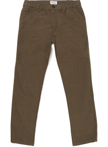 Online Exclusive Khaki Tapered Brushed Jogger Chinos