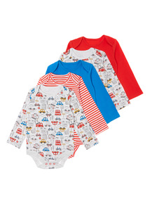 Multicoloured Five Pack Brooklyn Bodysuit (0-24 months)