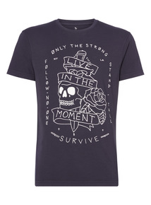 Navy Live in The Moment Tee