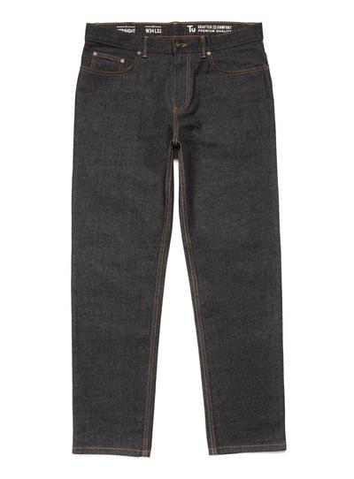 Denim Black Wash Straight Jeans