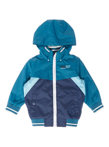 Boys Blue Showerproof Bomber Jacket (9 months-5 years)